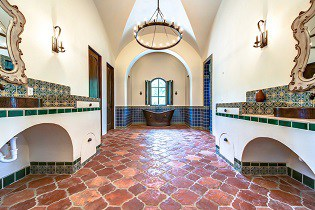how to lay spanish tile