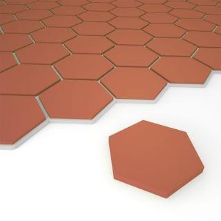 hexagon terracotta tile