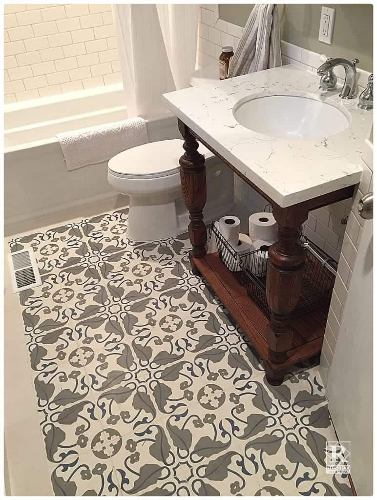 Cement tile bathroom floors rustico tile and stone - Decorative bathroom tiles ...
