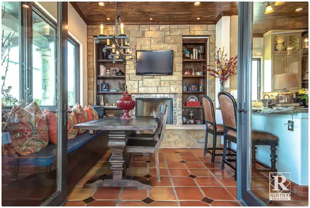 Living room with spanish tile