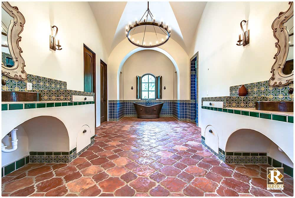 bathroom saltillo tile flooring