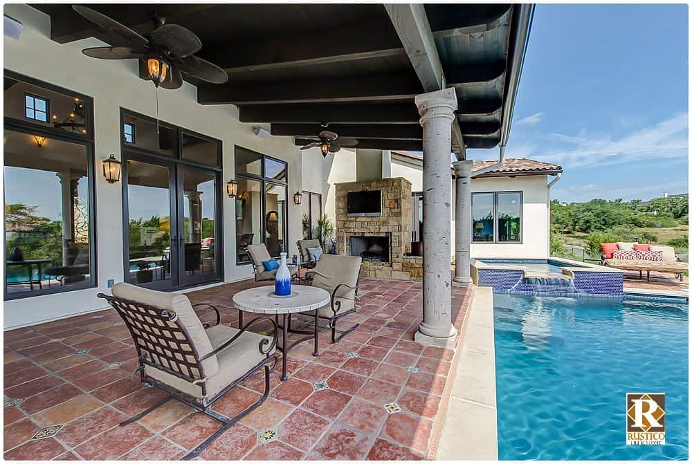 outdoor patio spanish tile