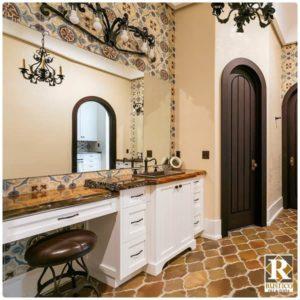 rustic terracotta tile flooring